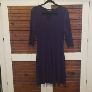 Lane Bryant 14/16 fit and flare sweater dress purp